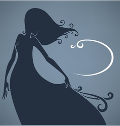 girl in long dress vector image vector image
