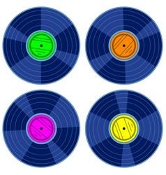 gramophone record disk set vector image vector image