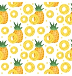Pineapple seamless pattern Ananas slices endless vector image vector image