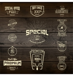 Top quality badges logos and labels for any use vector image