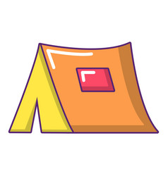 tourist tent icon cartoon style vector image