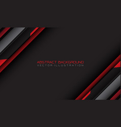 abstract red grey cyber geometric slash vector image