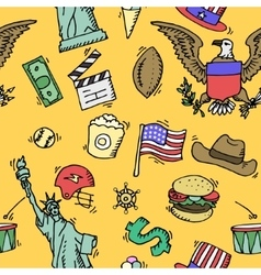 American Doodle set color pattern vector image