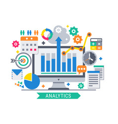 analytics information tools vector image