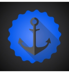 Antique travel anchor flat icon vector image