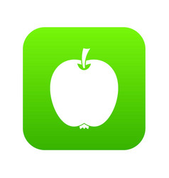 apple icon digital green vector image