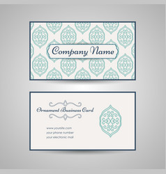 arabic style business card template vector image