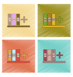 Assembly flat shading style icon shelf folder vector