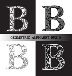 B geometric alphabet vector