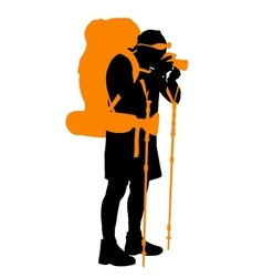 Backpacker vector image vector image