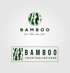 Bamboo set logo design vector