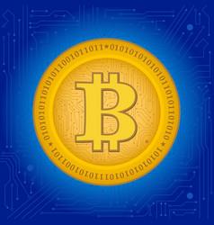 Bitcoin crypto coin vector