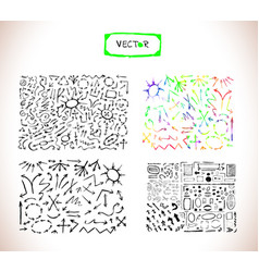 black arrows set vector image