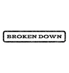 Broken down watermark stamp vector