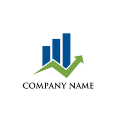 business graphic financial logo vector image