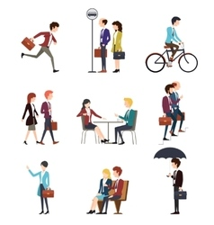 Business people in urban outdoor activity vector image
