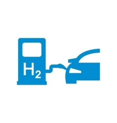 car hydrogen station icon vector image