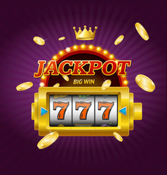casino gambling game jackpot concept card vector image