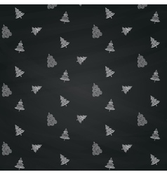 Christmas Doodles Seamless Background vector image