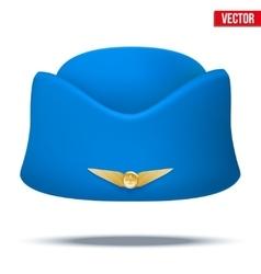 Classic Stewardess hat forage-cap of air hostess vector