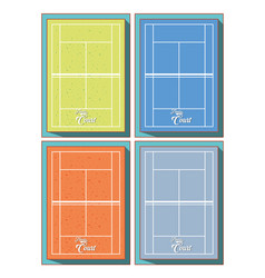 courts of tennis sport vector image