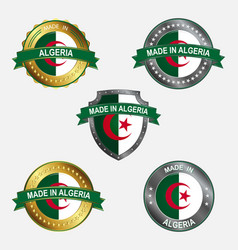 design label made in algeria vector image