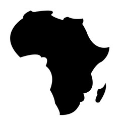 detailed map of africa continent in black vector image