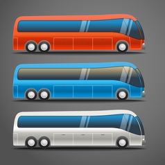Different color city bus vector image