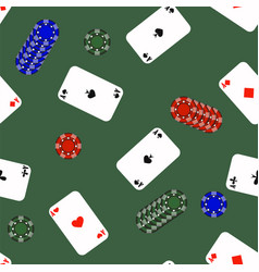 Different playing cards pattern vector