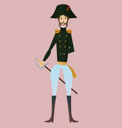 Digital french napoleonic soldier vector