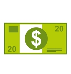 Dollar bill isolated icon design vector