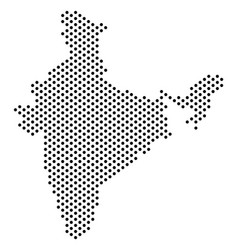 Dotted india map vector