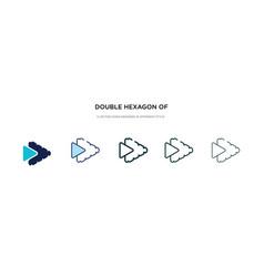 Double hexagon small triangles icon vector