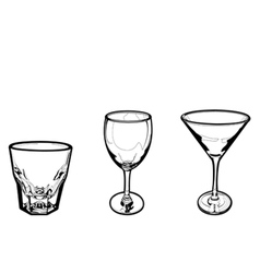 drinking glass vector image