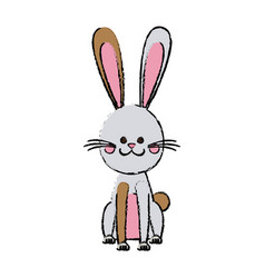 Easter rabbit funny decoration animal season vector