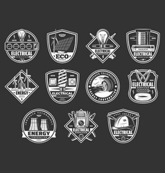 Electrical service and energy power icons vector