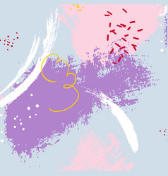 Expressive minimalistic violet pattern vector