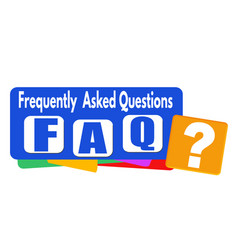 Faq frequently asked questions banner or label vector