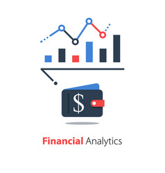 financial analysis business performance report vector image