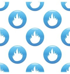 Fire sign pattern vector image