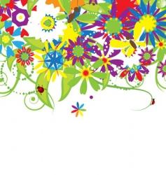 floral bouquet summer illustration vector image vector image