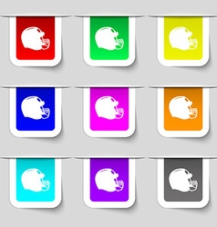 Football helmet icon sign Set of multicolored vector