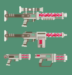 Futuristic sci-fi weapons vector