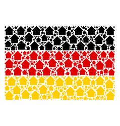 germany flag mosaic of house items vector image
