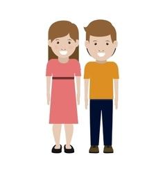 Girl and boy cartoon design vector image