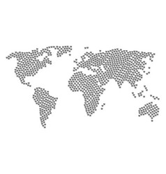 global map collage of hammers items vector image