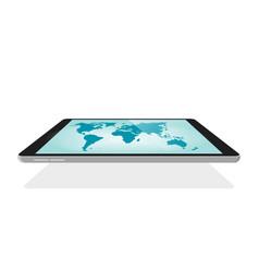 global world map digital technology blank empty vector image