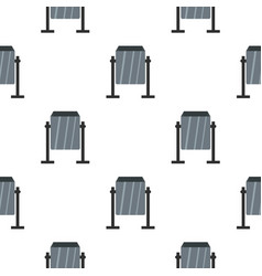 Grey metal dust bin pattern seamless vector