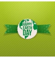Happy Earth Day paper Emblem vector