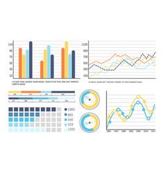 Infographics and flowcharts pie diagram info vector